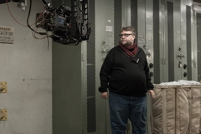 Guillermo del Toro on the set of Shape of Water