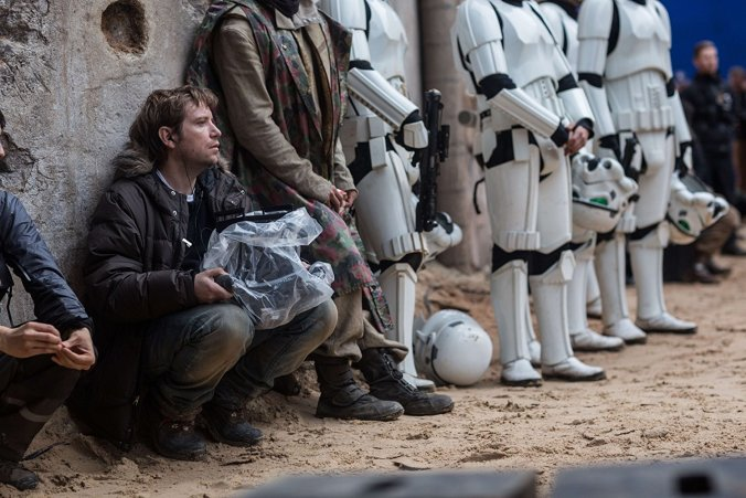 Gareth Edwards on the set of Rogue One