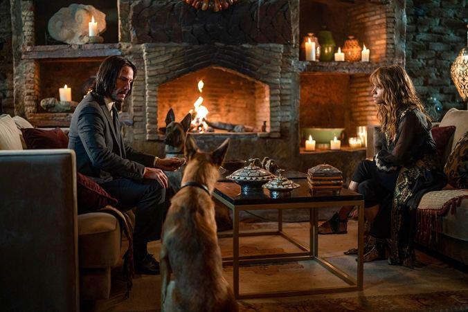 Keanu Reeves & Halle Berry in John Wick 3