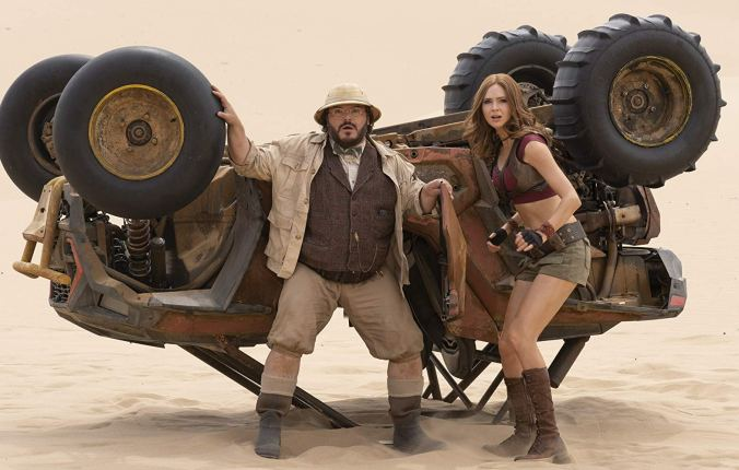 Jack Black and Karen Gillan in Jumanji: The Next Level