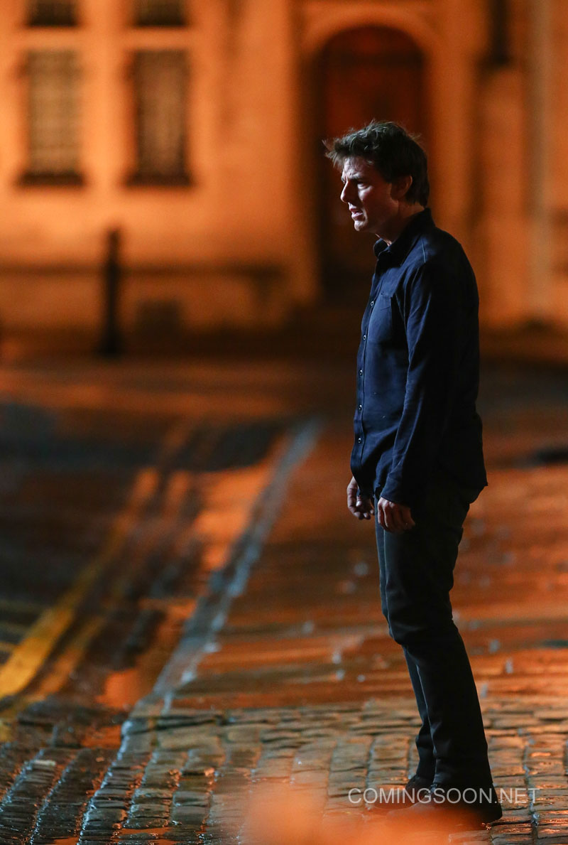 """Tom Cruise and Annabelle Wallis film a scene for the movie """"The Mummy' in Oxford Featuring: Tom Cruise Where: Oxford, United Kingdom When: 06 Apr 2016 Credit: WENN.com"""