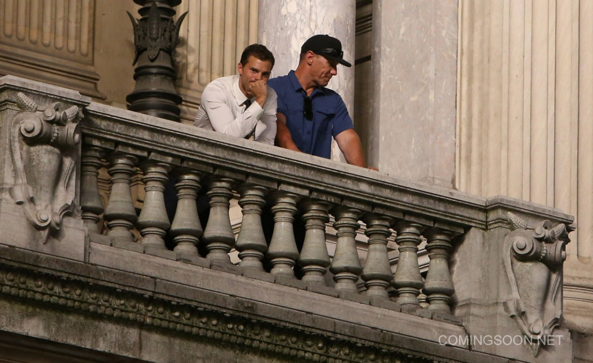 Filming on 'Fifty Shades Darker' takes place at Opera Garnier in Paris Featuring: Jamie Dornan Where: Paris, France When: 18 Jul 2016 Credit: WENN.com **Not available for publication in France, Belgium, Spain, Italy**