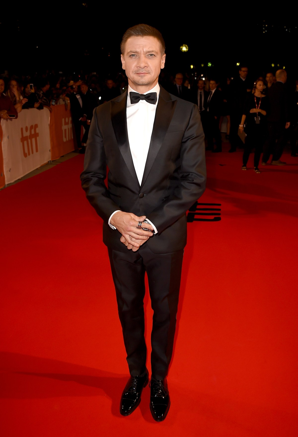 """TORONTO, ON - SEPTEMBER 12:  Actor Jeremy Renner attends the """"Arrival"""" premiere during the 2016 Toronto International Film Festival at Roy Thomson Hall on September 12, 2016 in Toronto, Canada.  (Photo by Kevin Winter/Getty Images)"""