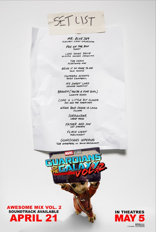 guardians of the galaxy vol 2 soundtrack poster
