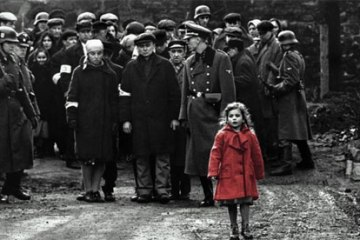 "A still from ""The Schindler's list"" by Steven Spielberg."