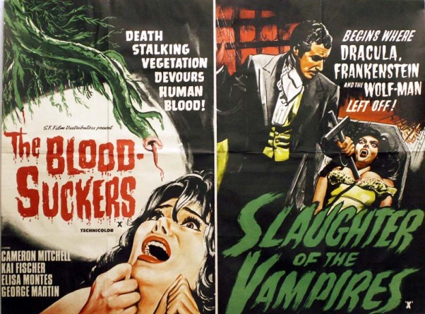 bloodsuckers + slaughter of the vampires british quad poster