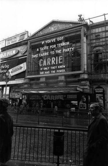 carrie 1976 london pavilion cinema