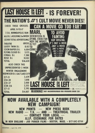 last house on the left 1979 re-release campaign