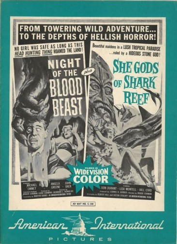 night of the blood beast + she gods of the shark reef