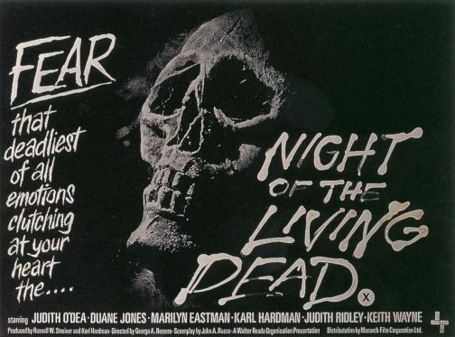 night of the living dead british Monarch Film poster