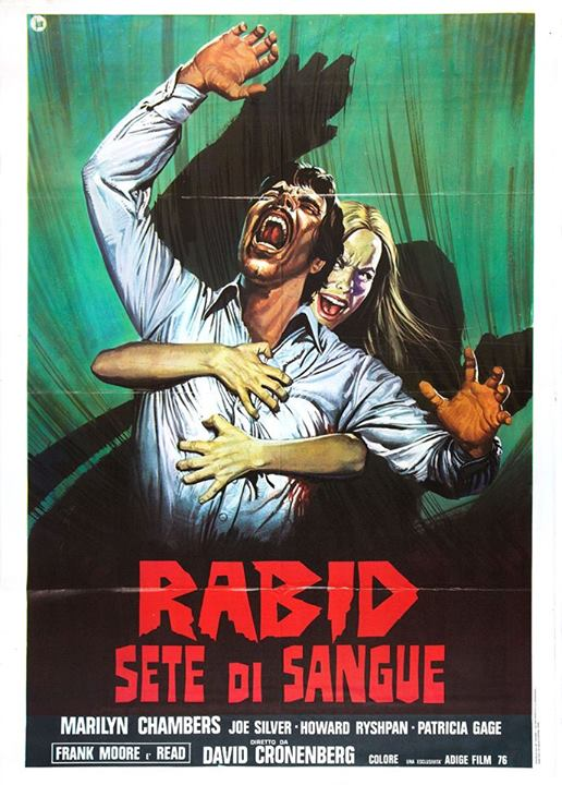 Rabid David Cronenber 1977 Canadian horror Italian poster