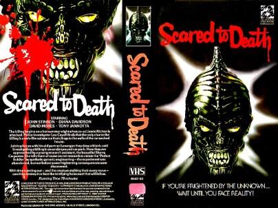 SCARED TO DEATH BRITISH AVATAR VHS SLEEVE