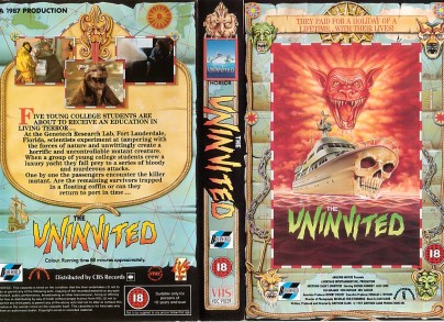 the uninvited 1987 mutant cat movie british VHS sleeve