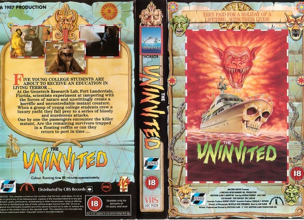 the uninvited 1987 mutant cat movie british VHS sleeve
