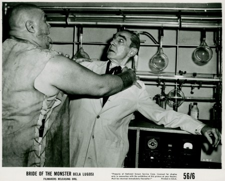 bride of the monster tor johnson attacks bela lugosi
