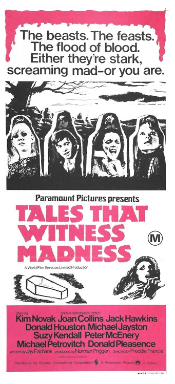 tales that witness madness beasts feasts australian poster