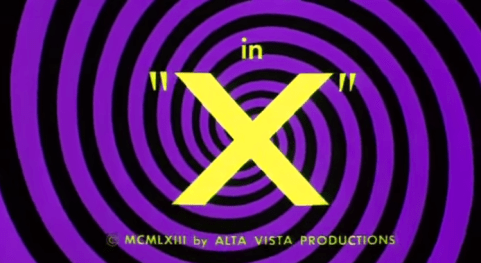 X title screen shot 1963