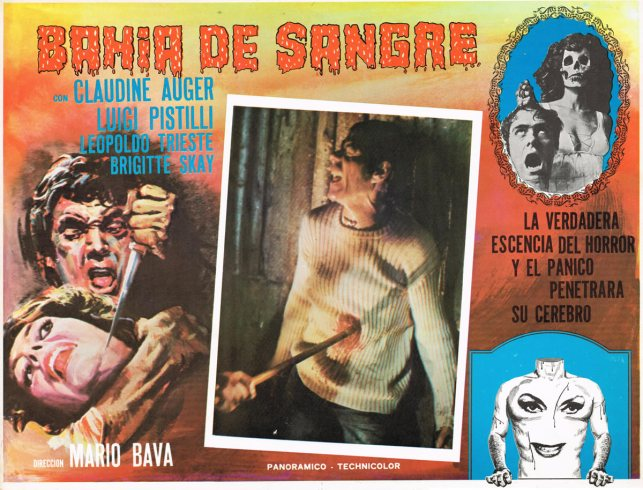 bay of blood mexican lobby card