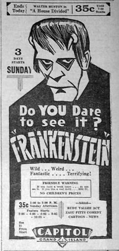 Frankenstein-ad-1931
