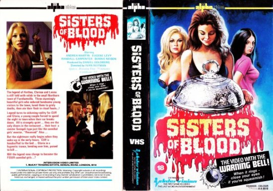 sisters of blood cannibal girls british alpha video intervision VHS sleeve