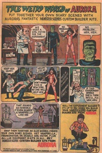Aurora-comic-strip-Vampira-Frankenstein's-monster