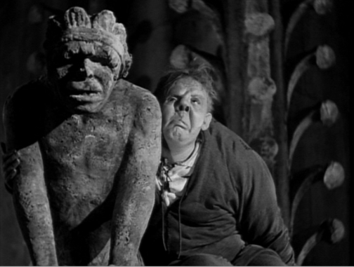 charles laughton and gargoyle hunchback of notre dame 1939