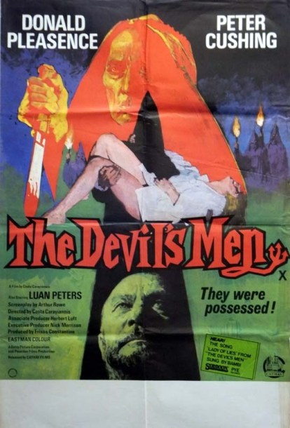 the devil's men donald pleasence peter cushing british poster