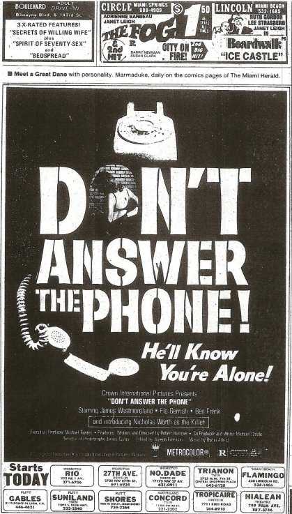 APRIL 4 1980 Don't Answer The Phone
