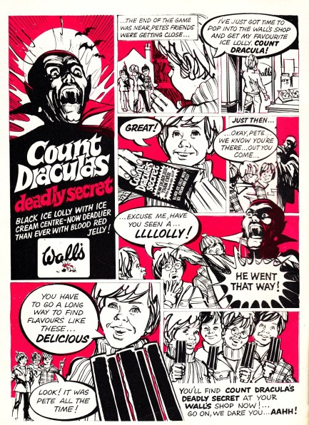 COUNT DRACULA LOLLY AD JULY74