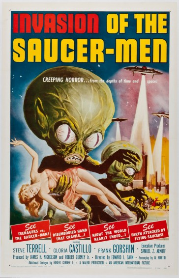 invasion of the saucer men creeping horror
