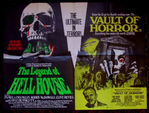 legend of hell house + vault of horror british quad poster