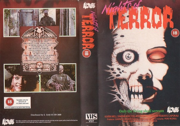 NIGHTS OF TERROR AKA THE ZOMBIE DEAD AND BURIAL GROUND