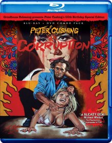 Corruption Peter Cushing Grindhouse Releasing Blu-ray Disc front cover