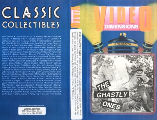 ghastly ones vhs front & back