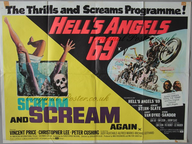 Scream-and-Scream-Again-Hell's-Angels-'69-British-cinema-poster