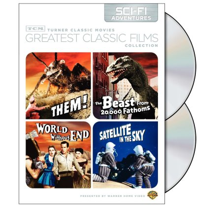 them! + beast from 20000 fathoms + world without end + satellite in the sky TCM DVD