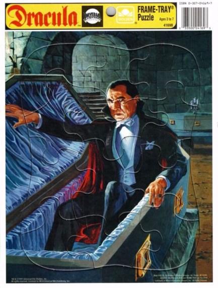 Dracula-frame-tray puzzles-Golden:Western Publishing 1991
