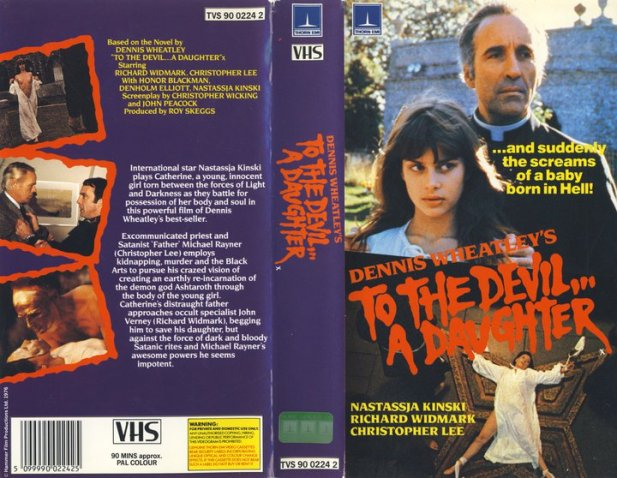 To the Devil a Daughter Hammer horror Thorn EMI UK VHS sleeve