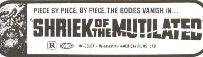 shriek of the mutilated ad mat