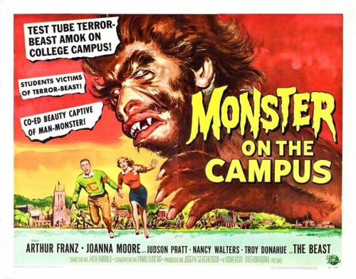 Monster-on-the-Campus-reviews-movie-film-sci-fi-horror-1958-poster