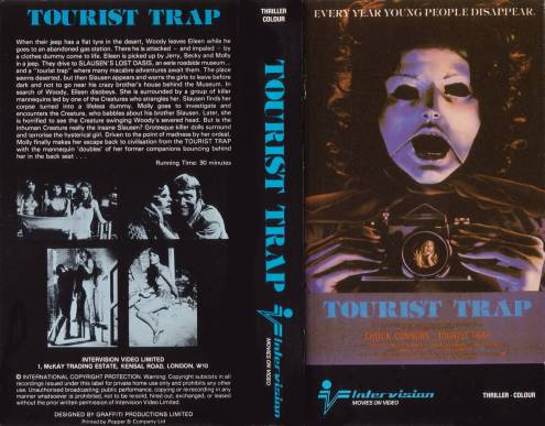 Tourist Trap David Schmoeller 1979 UK Intervision VHS sleeve