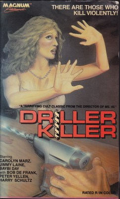 driller killer magnum entertainment US VHS cover
