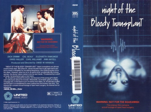 night of the bloody transplant vhs front & back4