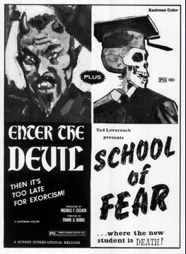 enter the devil-school of fear ad mat