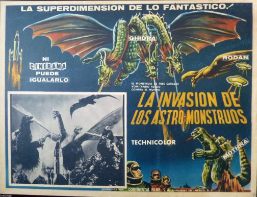 invasion of the astro monsters mexican lobby card