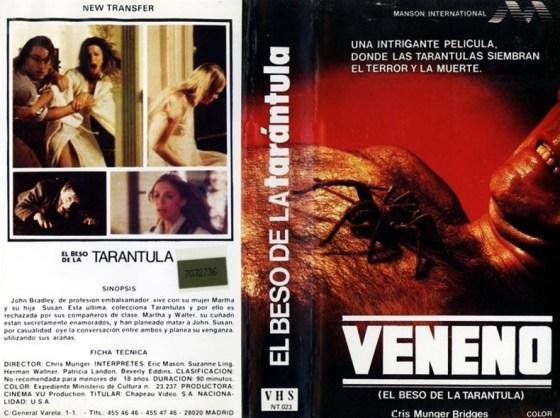 Veneno El Beso de la Tarantula Spanish Chapeau Video VHS