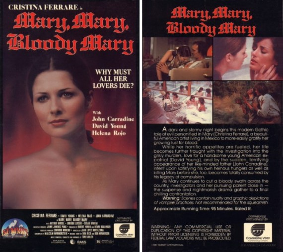 mary mary bloody mary vhs front & back3