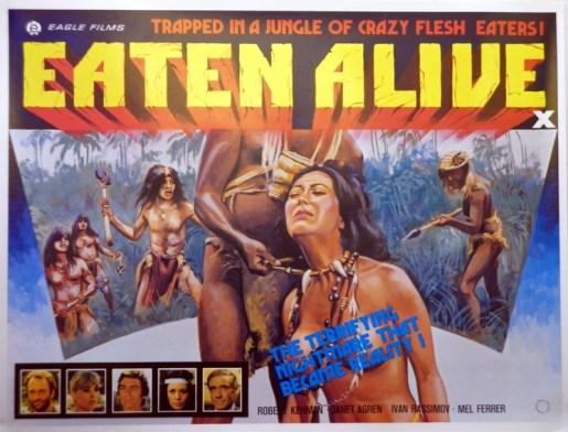 eaten alive 1980 british eagle films poster tom chantrell