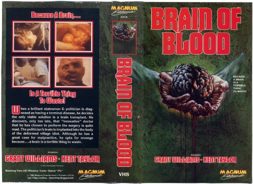 Brain of Blood VHS insert