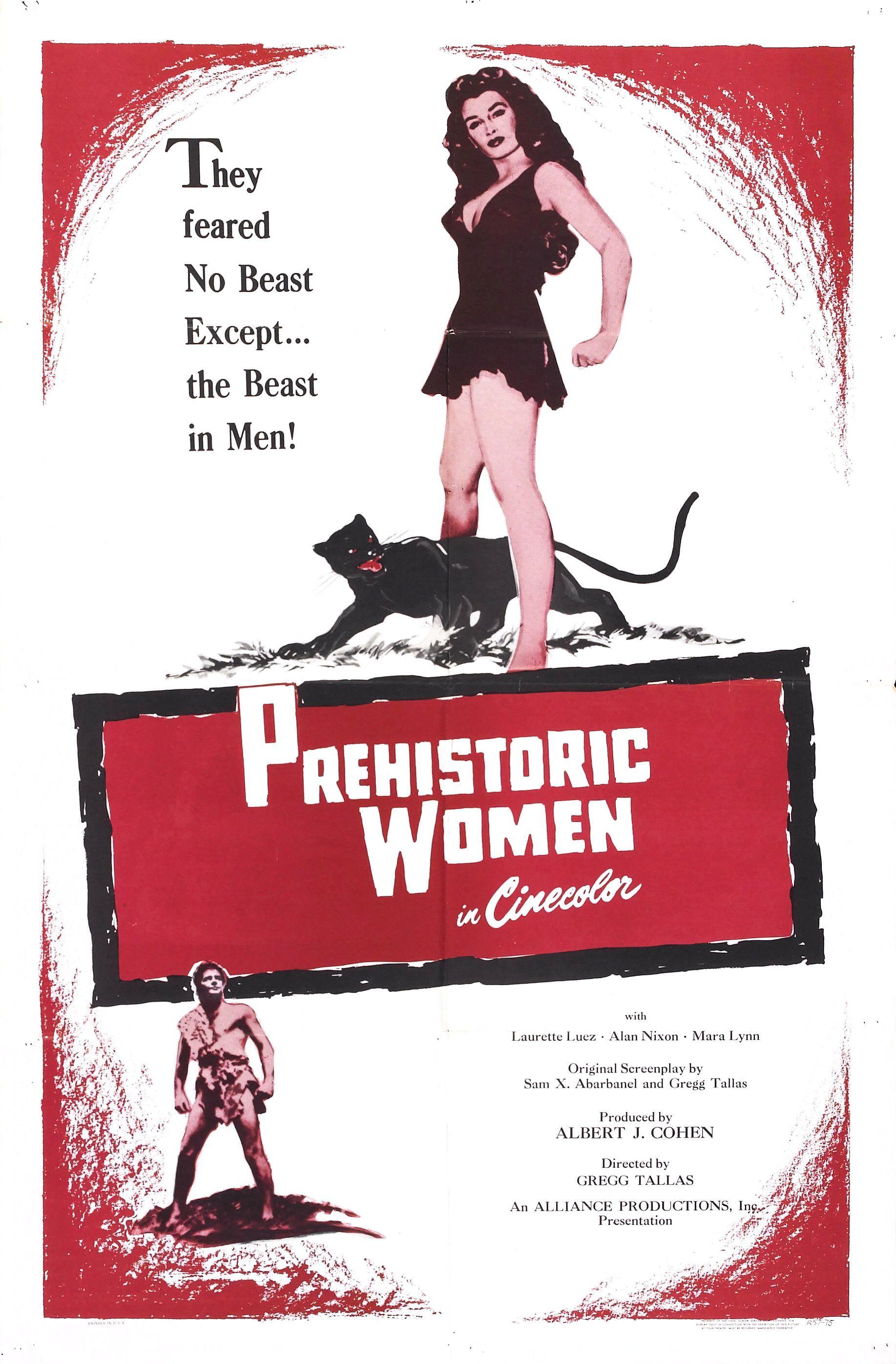 Cult Horror movie poster print 1950 Prehistoric Women